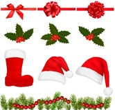 Set of Christmas objects. Vector. Royalty Free Stock Images
