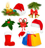 Set of Christmas objects. Vector. Royalty Free Stock Photo
