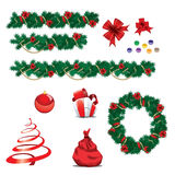 Set of Christmas ornaments Royalty Free Stock Photo