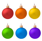 Set of Christmas ornaments isolated royalty free stock photography