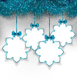 Set Christmas paper snowflakes with copy space for your text Royalty Free Stock Images