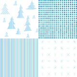 Set of Christmas patterns. Abstract textures. Stock Photos