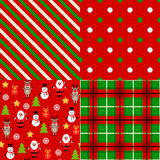 Set of christmas patterns Stock Photo