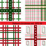 Set of Christmas patterns Stock Image