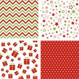 Set of Christmas patterns. Seamless backgrounds. Set of vector Christmas patterns. Seamless backgrounds Royalty Free Stock Photo