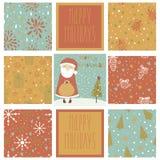 Set of christmas patterns Stock Photos