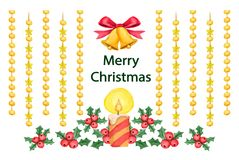 Background with decorative christmas elements Stock Images