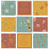 Set of christmas patterns (seamlessly tiling).  Ye Stock Images