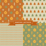 Set of Christmas patterns Stock Images