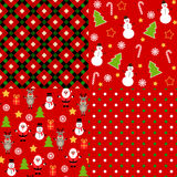 Set of christmas patterns. Royalty Free Stock Image