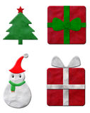 Set of Christmas plasticine. Set of Christmas gift plasticine Stock Illustration