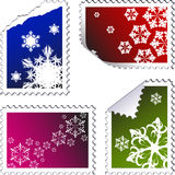 Set of christmas post stamps Royalty Free Stock Image