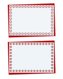 Set of Christmas red card with snowflakes and christmas openwork Royalty Free Stock Photography