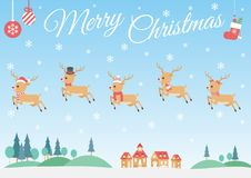 Set of Christmas Reindeer stock photography