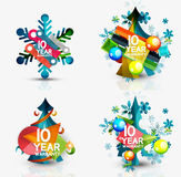 Set of Christmas sale or promotion price tags, New Royalty Free Stock Image