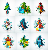 Set of Christmas sale or promotion price tags, New Stock Photography