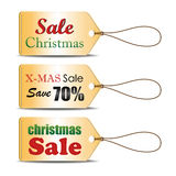 Set of Christmas sale tag, can use for your business or promotion or use in website. Vector illustration. Royalty Free Stock Photo