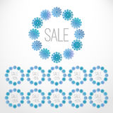 Set of Christmas sale templates Royalty Free Stock Photos