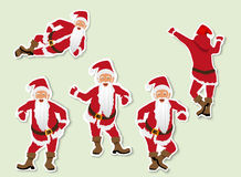 set of Christmas Santa Claus. Labels of paper with shadow Stock Photo