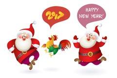 Set of Christmas Santa Claus Royalty Free Stock Photo
