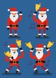 Set of Christmas Santa Claus. Vector flat style Stock Photos