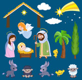 Set of Christmas scene elements. Stock Photos