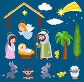Set of Christmas scene elements. Stock Photos