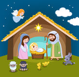 Set of Christmas scene elements. Royalty Free Stock Photography