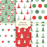 Set of Christmas sealess patterns Royalty Free Stock Photography