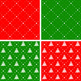 Set of Christmas seamless ornaments. Royalty Free Stock Photography
