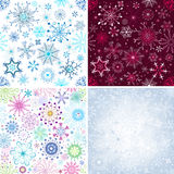 Set Christmas seamless pattern Stock Photos