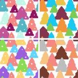Set of christmas seamless patterns stock photo