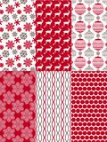 Set of Christmas seamless patterns. Royalty Free Stock Photo