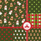 Set of Christmas seamless patterns Stock Image