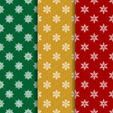 The set of Christmas seamless patterns Stock Images