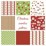 Set of christmas seamless patterns Stock Photography