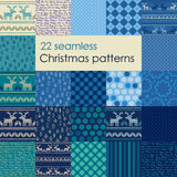 Set of Christmas seamless patterns. Stock Photography