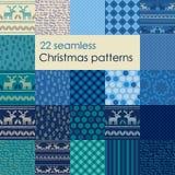 Set of Christmas seamless patterns. Stock Photography