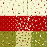 Set of  Christmas seamless patterns Royalty Free Stock Images