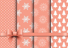 Free Set Christmas Seamless Vector Backgrounds Royalty Free Stock Images - 61663539