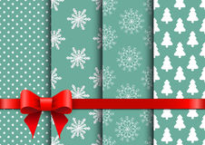 Set christmas seamless vector backgrounds Royalty Free Stock Image