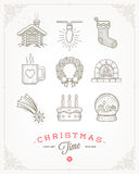 Set of Christmas signs and symbols Stock Image