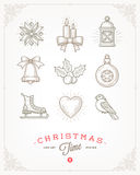 Set of Christmas signs and symbols Stock Images