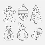 Set of Christmas signs and symbols Royalty Free Stock Photography
