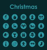 Set of Christmas simple icons Stock Images