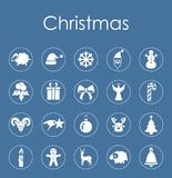 Set of Christmas simple icons Stock Image