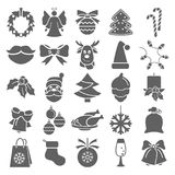 Set of Christmas simple icons for web and mobile design. Set of Christmas simple icons for web and mobile Royalty Free Stock Photos