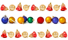 Set of christmas spheres and bells Royalty Free Stock Image