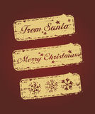 Set of Christmas stamps Stock Photos