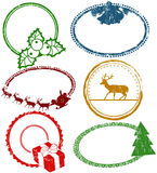 Set of Christmas stamps Royalty Free Stock Photos